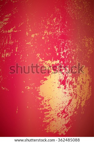 Red abstract background with golden spatter - stock vector