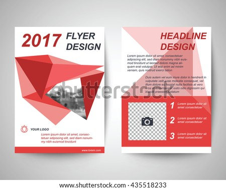Red Abstract Flyer Layout Template Brochure Stock Vector 435518233