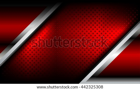 red abstract metal background, Vector Illustration