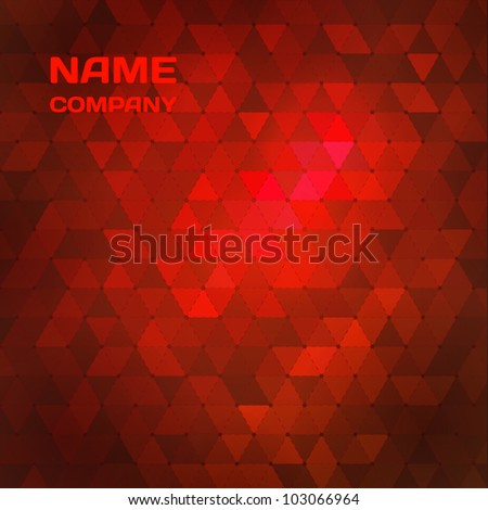 Red abstract mosaic background. - stock vector