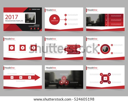 Business presentation slides templates infographic elements stock red abstract presentation templates infographic elements template flat design set for annual report brochure flyer toneelgroepblik Image collections