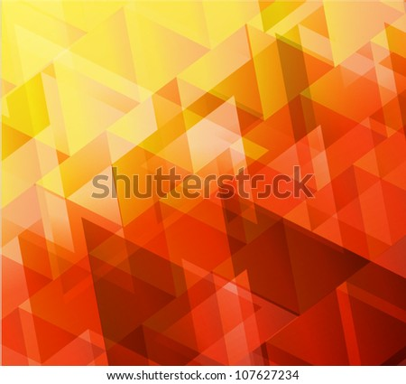 Red abstract vector - stock vector