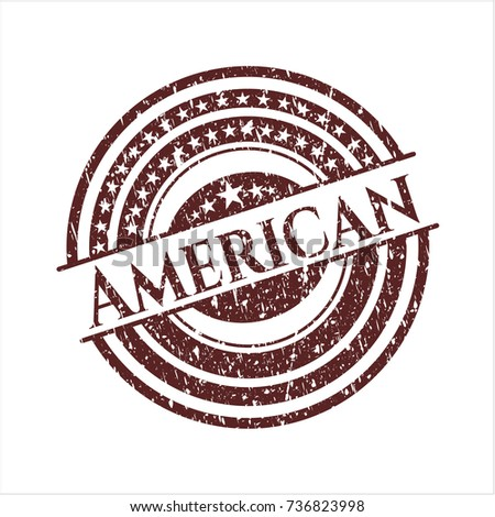 Red American rubber stamp