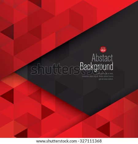 Red and black abstract background vector. Can be used in cover design, book design, website background, CD cover, advertising. - stock vector