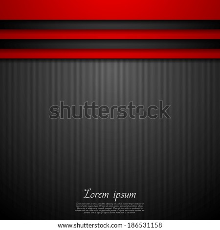 Red and black abstract vector background - stock vector