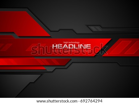 red black contrast abstract technology background stock vector 692764294 shutterstock. Black Bedroom Furniture Sets. Home Design Ideas