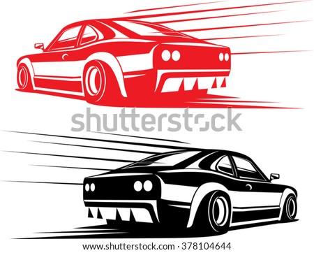Fast Car Illustration Stock Vector 28557383 Shutterstock