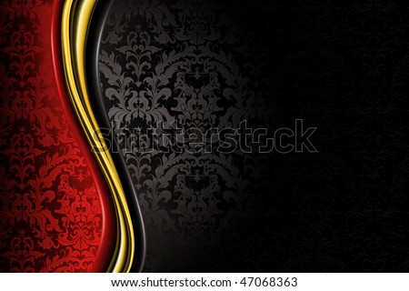 Red and black Luxury Background - stock vector