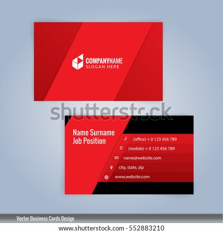 Red black modern business card template stock vector 552883210 red and black modern business card template illustration vector 10 reheart Gallery