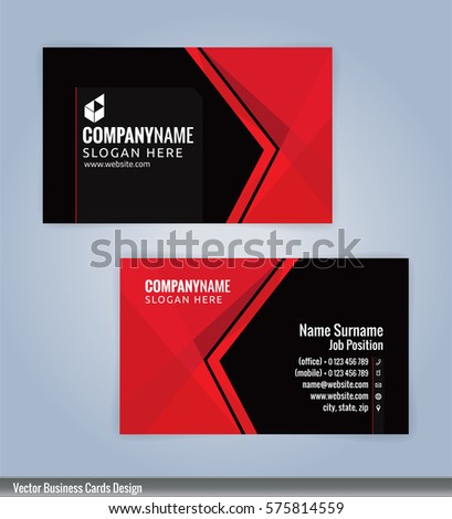Red black modern business card template stock vector 575814559 red and black modern business card template illustration vector 10 accmission Gallery