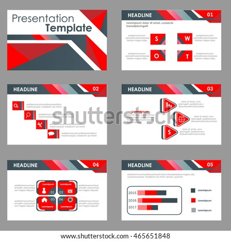Red and black Multipurpose Infographic elements and icon presentation template flat design