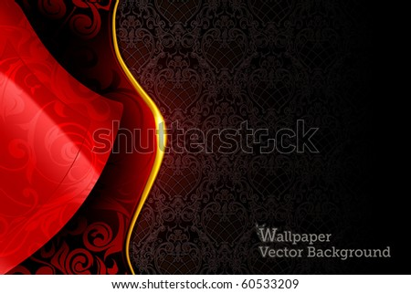 Red and Black wallpaper background, eps10 - stock vector