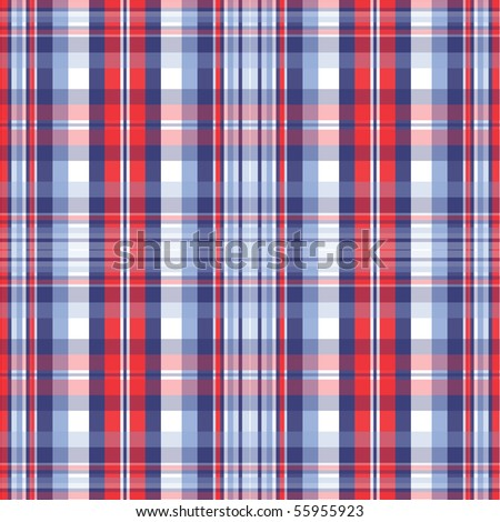 Red and Blue Plaid Vector