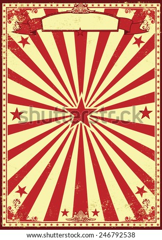 Red and cream retro sunbeams background. A vintage and retro backgound for your entertainment - stock vector