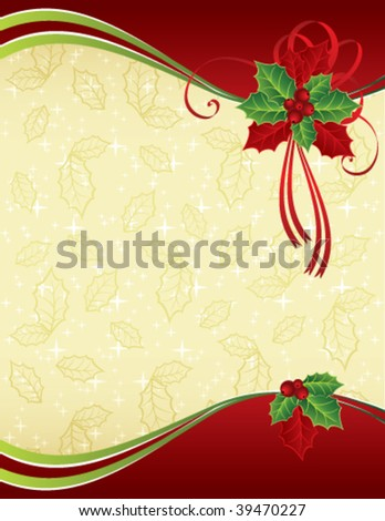Red and gold Christmas background - stock vector