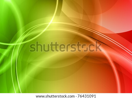red and green abstract background - stock vector