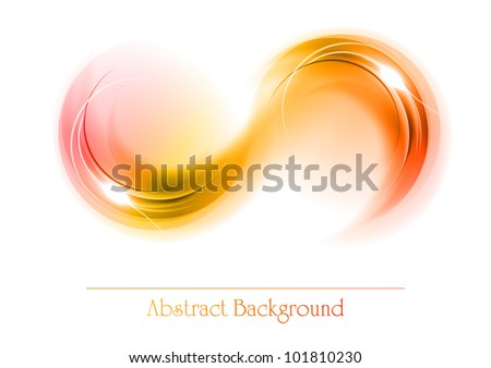 red and orange abstract ornament - stock vector
