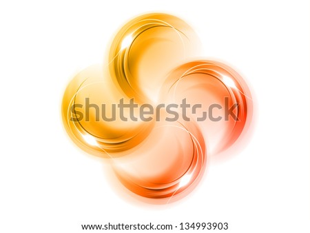 red and orange abstract ornament