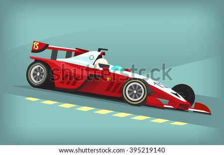 red and white fast motor racing bolid