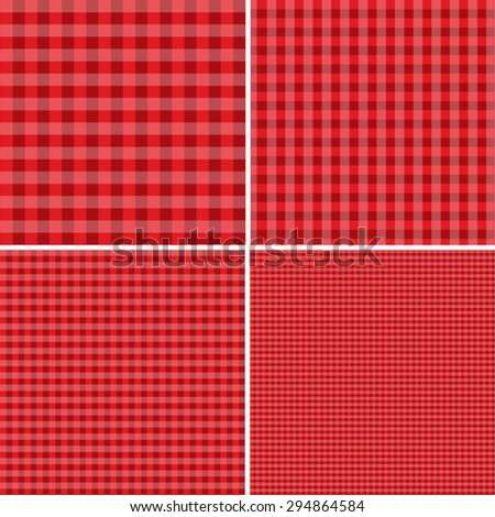 Red and white popular background for picnics - stock vector