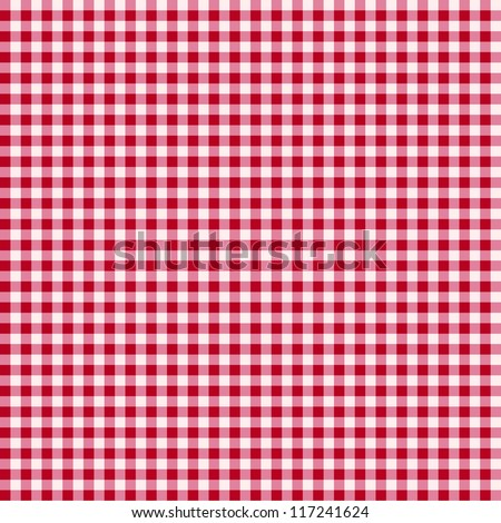 Red and white tablecloth background - stock vector