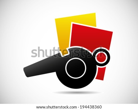 Red And Yellow Card Fouls - stock vector