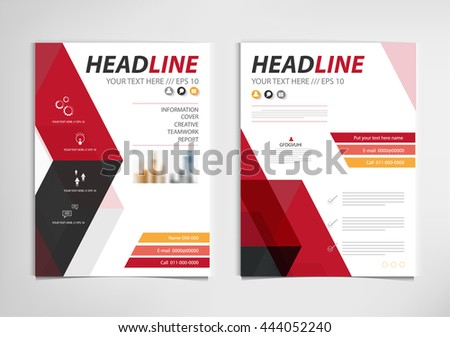 Red Annual Report Brochure Template Design Stock Vector 2018