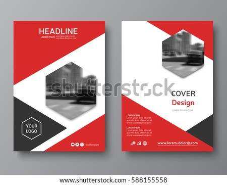 RedReportCoverPage Stock Images RoyaltyFree Images  Vectors