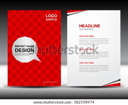 Red Brochure Design Template Stock Vector   Shutterstock