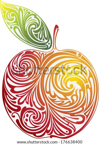 Red apple. - stock vector
