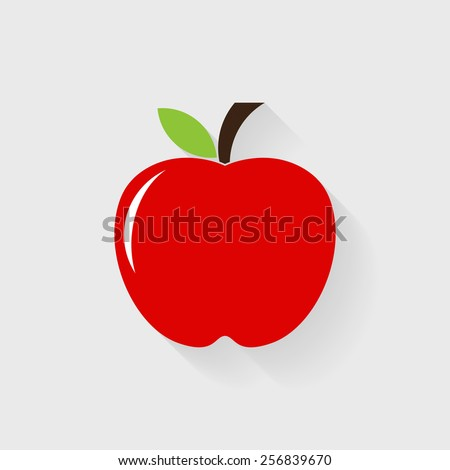 Red apple icon - Vector - stock vector