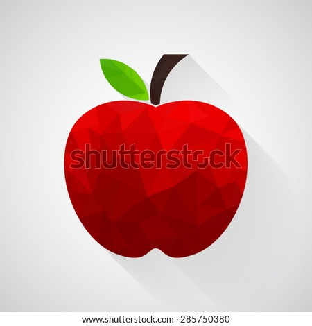 Red apple icon - Vector