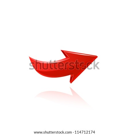 Red arrow - stock vector