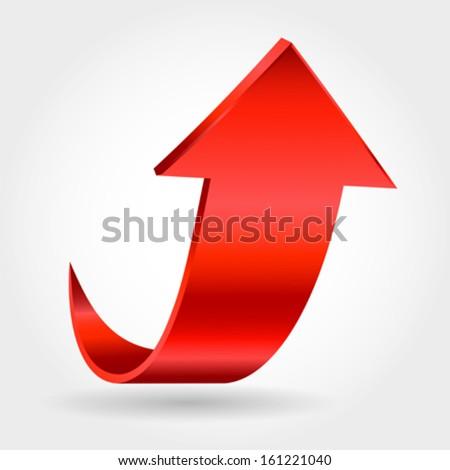 Red arrow - stock vector