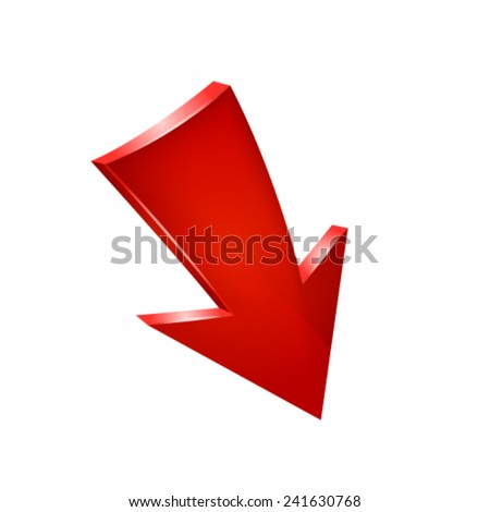 Red arrow. Vector - stock vector