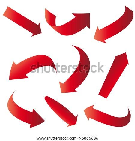 red arrows - stock vector