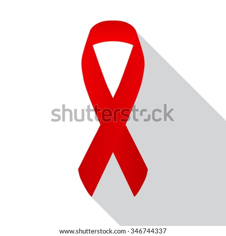 Red awareness ribbon