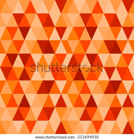 Red background abstract geometry pattern - stock vector