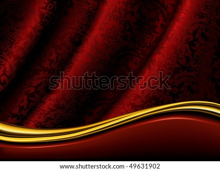 Red Background, vector - stock vector