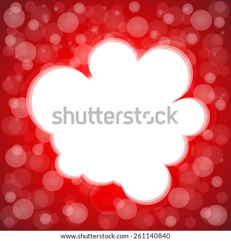 red background with different laces and center place for text. - stock vector