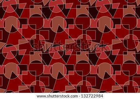 Red Background with Geometric Pattern - stock vector