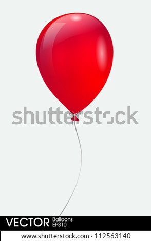 red balloon - stock vector