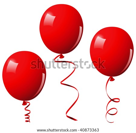 Red balloons. This image is a vector illustration and can be scaled to any size without loss of resolution