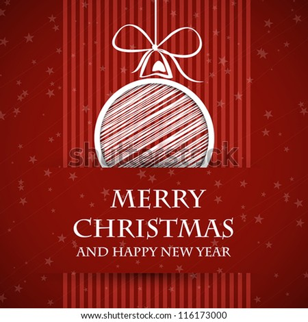 red banned christmas card. red banned christmas card concept - stock vector