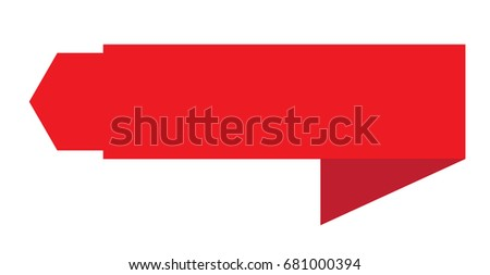 red banner ribbon icon on white background. banner ribbon sign. flat style design.
