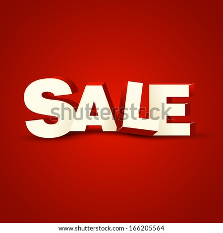 Red banner Sale - stock vector