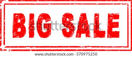 Red Big Sale Stamp . Vector Stamp . - stock vector