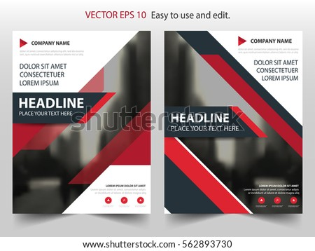 Business brochure flyer design a4 template stock vector for Black brochure template
