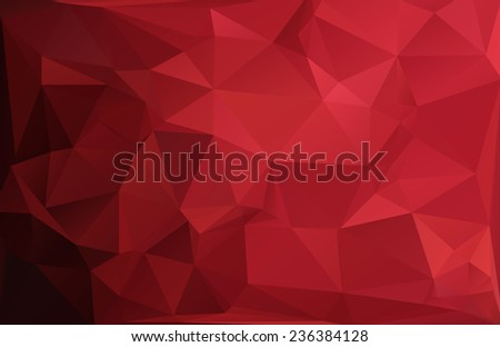 Red Black Polygonal Mosaic Background, Vector illustration,  Creative  Business Design Templates - stock vector