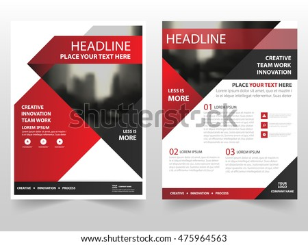 Red black triangle business Brochure Leaflet Flyer annual report template design, book cover layout design, abstract business presentation template, a4 size design